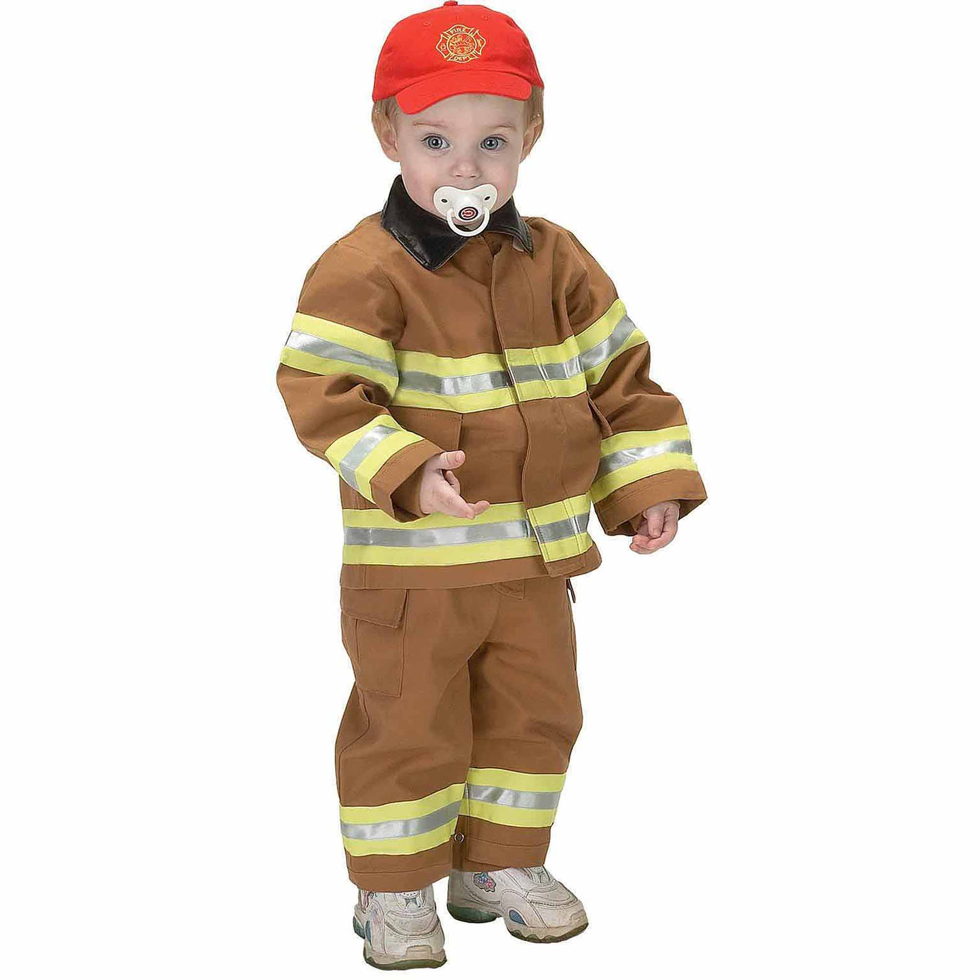 Jr. Fire Fighter Suit Tan Toddler Halloween Costume, Size 12-18 Months