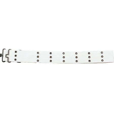 White Army Style Pistol Belt Metal Buckle - Army Bullet Belt