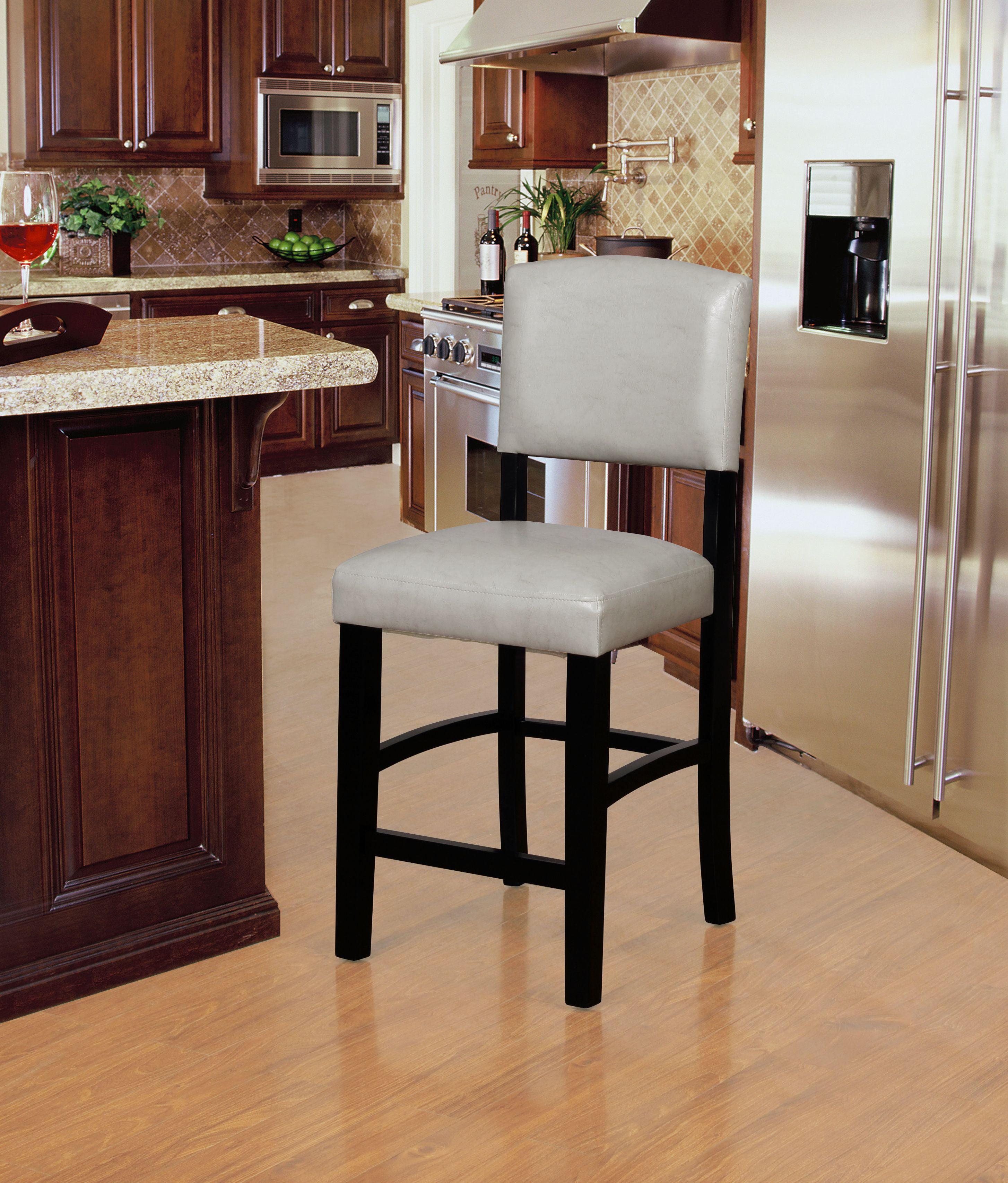 Sensational Linon Monaco Counter Stool 24 Inch Seat Height Multiple Colors Machost Co Dining Chair Design Ideas Machostcouk