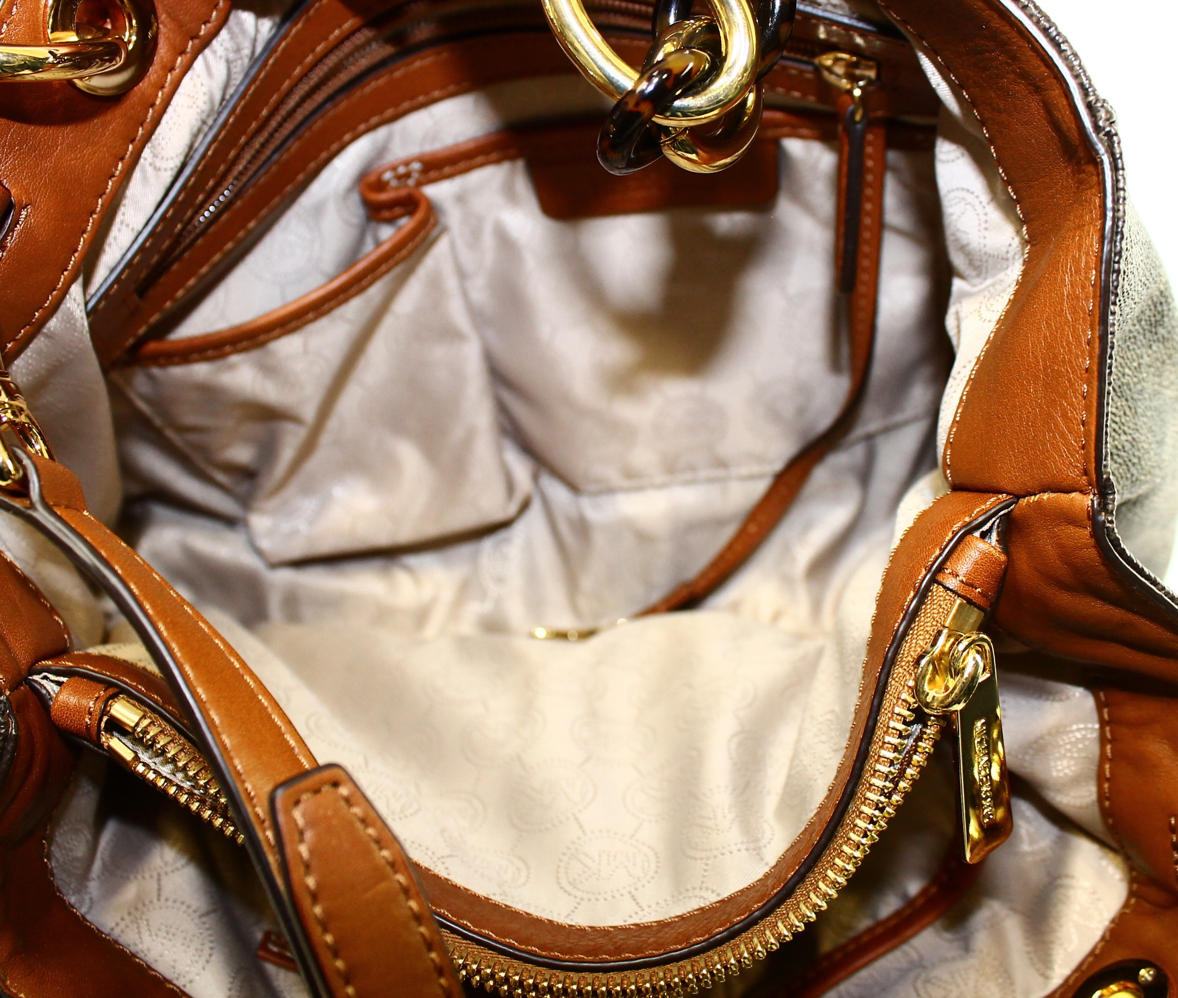 4e7283205f36 ... spain michael kors cynthia signature medium satchel handbag brown  30s3tcys2b walmart 9a81a e833f
