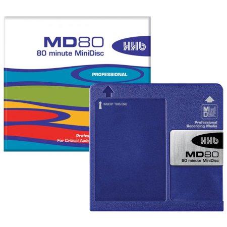 HHB-MD80/5HHB MD80 PROFESSIONAL GRADE 80 MINUTE MINIDISC (Color Minidisc)