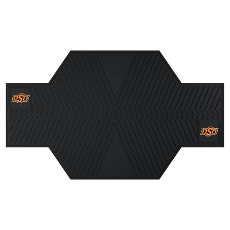 15244 Fanmats College NCAA Oklahoma State University 82.5 Inch L x 42 Inch W two 3D molded team logo Oil resistant garage floor Sport Bike Motorcycle Mat