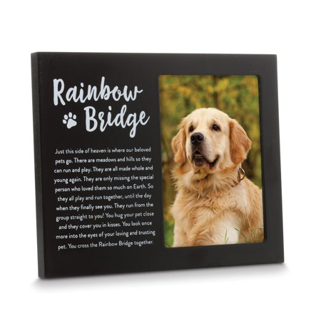 Black Rainbow Bridge Pet Memorial Remembrance Photo Frame Fine Jewelry Valentine's Day Gifts Sutton Bridge Black Frame