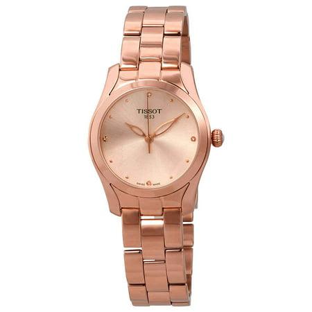 Tissot T-Wave Rose Diamond Dial Ladies Watch