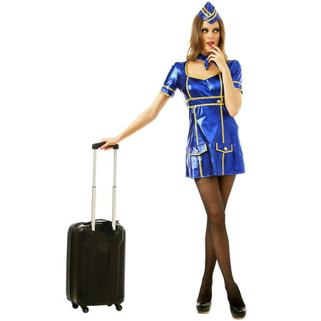 Airline Pilot Halloween Costume (Boo! Inc. Sexy Flight Attendant Halloween Costume | Adult Women Airline Lady Uniform)