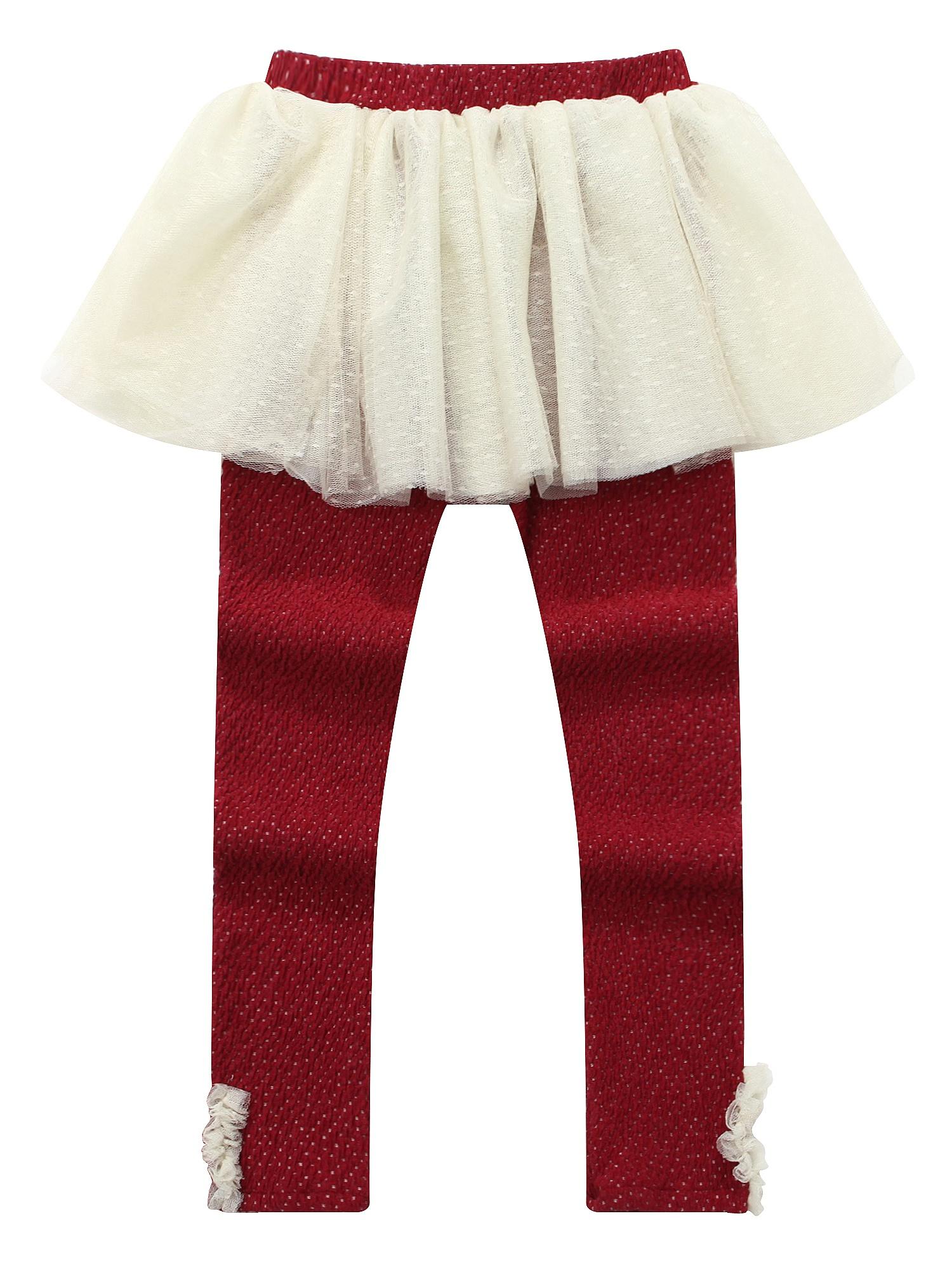 Richie House Girls' Jacquard woven charming skirt leggings RH0997