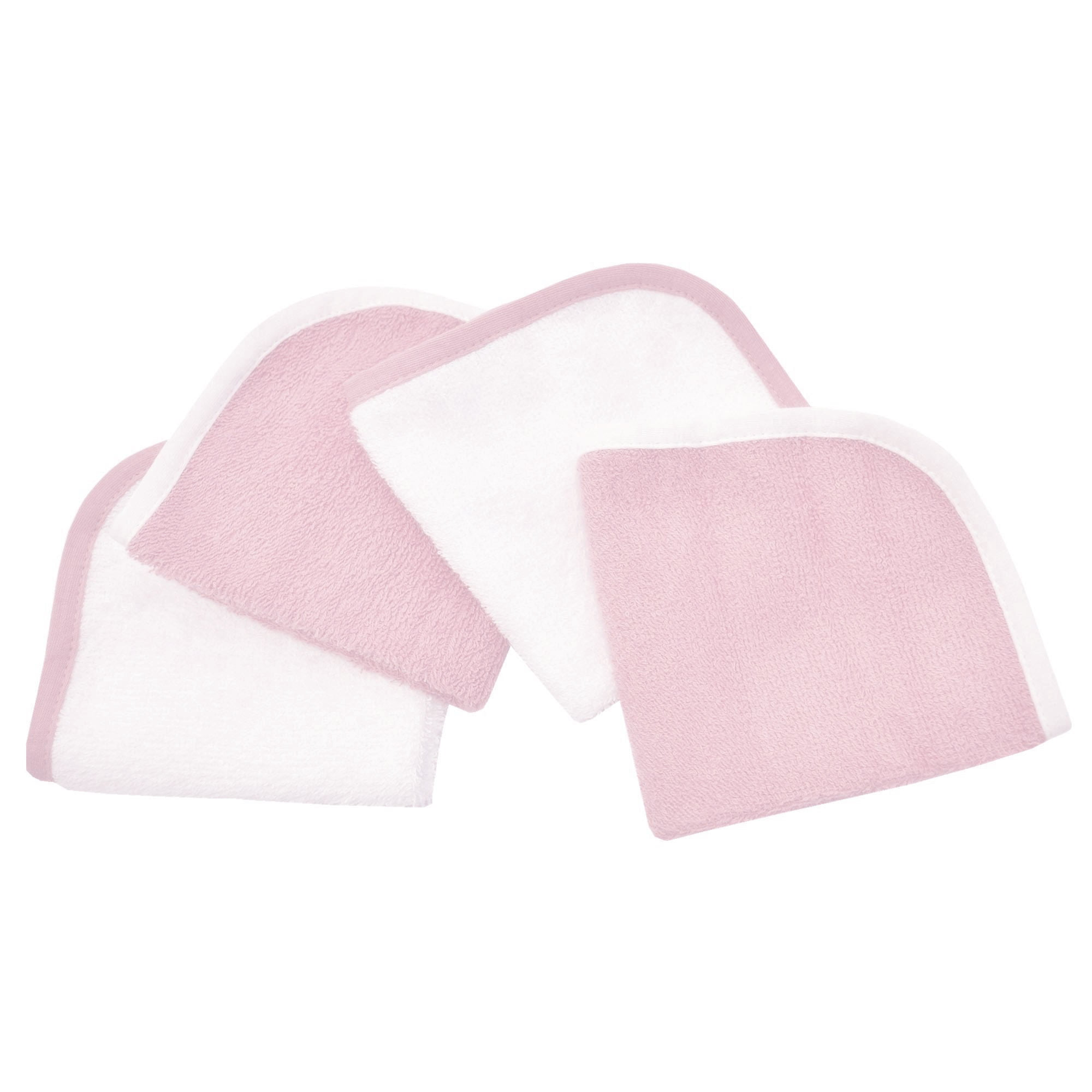 Click here to buy American Baby Company Cotton Terry 4-Piece Washcloth Set, Pink, for Girls by American Baby Company.