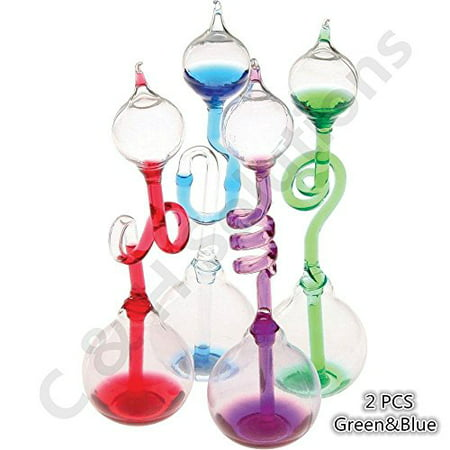 Colorful Office Thinking Hand Boiler, Glass Science Energy Transfer, Children Science Experiment, Love Birds Color Meter Hand Boiler, 2 Pcs (Gree&Blue) By