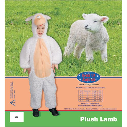 Dress Up America Plush Lamb Children's Costume