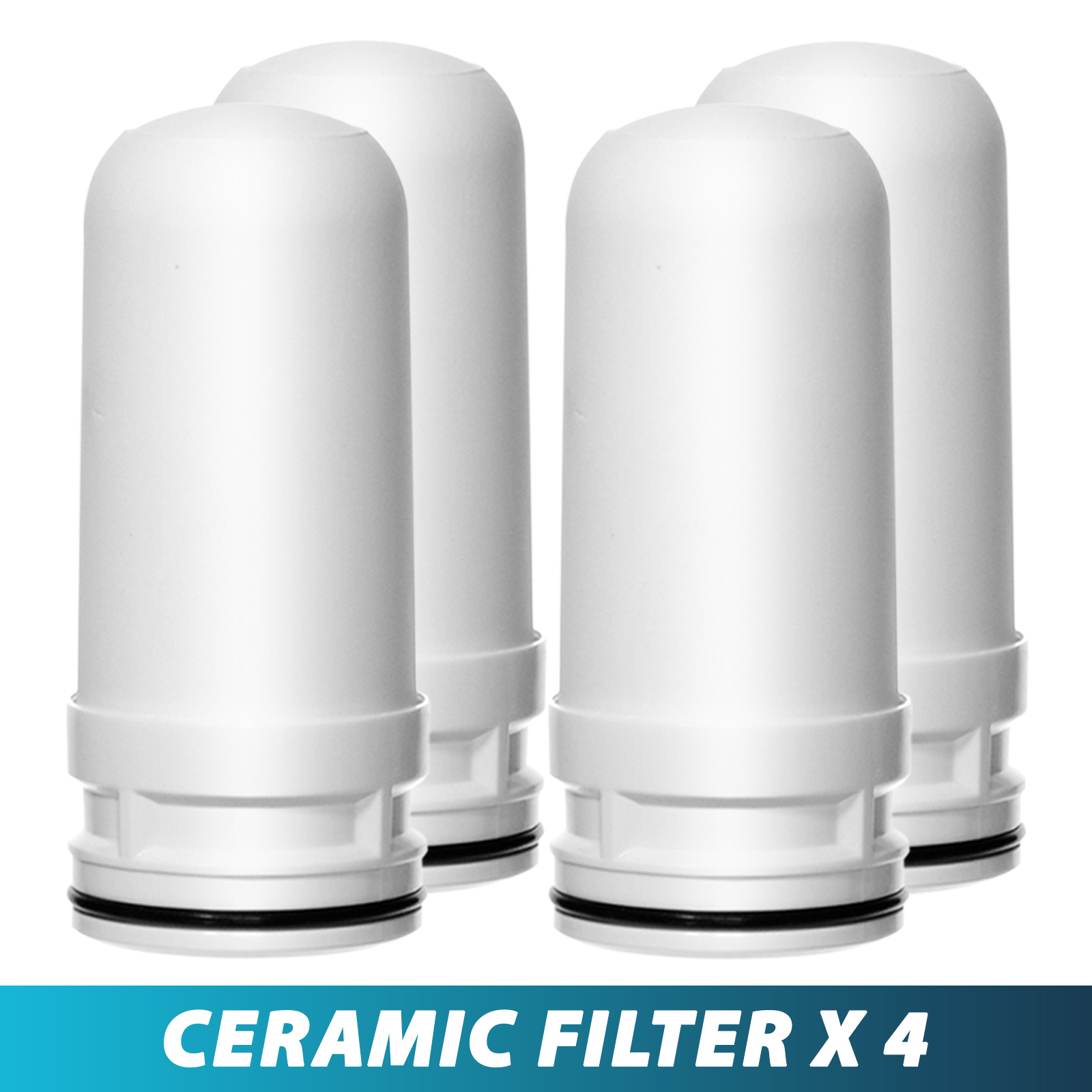 Ceramic Replacement Cartridge for LittleWell Faucet Mount Water Filters DFC1, DFW1, DFW2 (Pack of 4)