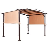 Costway 6.7'x17' Universal Replacement Canopy Cover Pergola Structure Sun Awning
