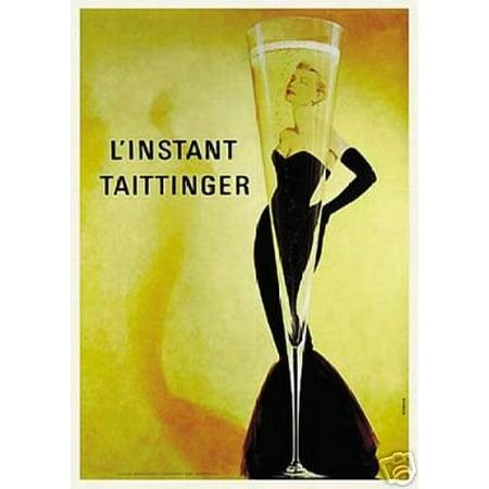 L'Instant Taittinger (Champagne Ad) Art Print Poster New (Linstant Taittinger Champagne)