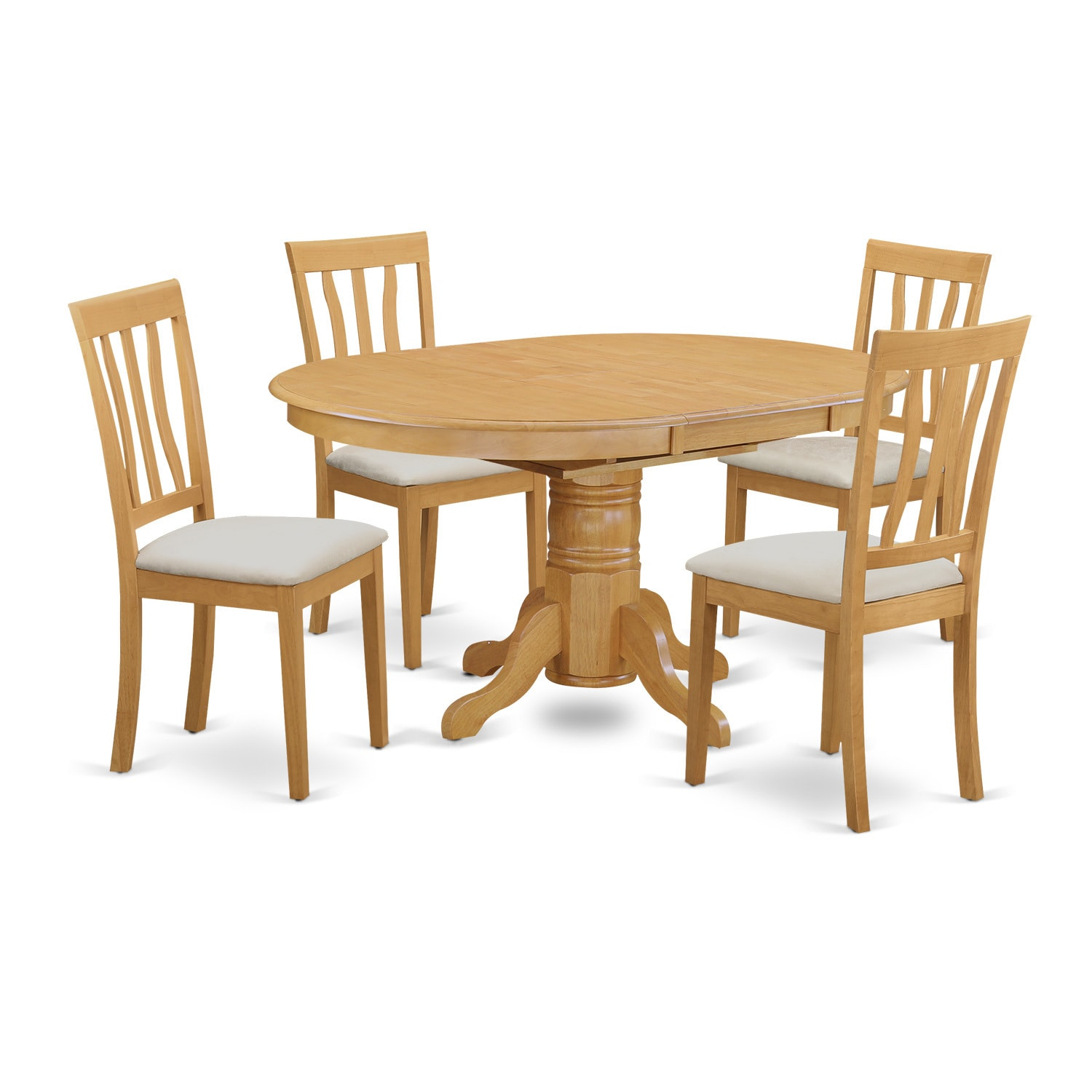 AVAT5-OAK-C 5 PC Dining room set - Kitchen dinette table and 4 kitchen chairs