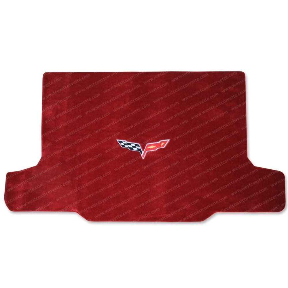 Corvette Cargo Mat - Victory Red with C6 Emblem - Convertible : 2005-2013 C6