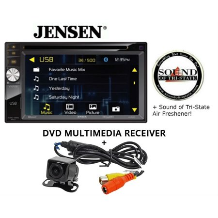 Jensen VX3528 DVD receiver and Backup Camera and a SOTS Air Freshener