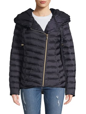 Asymmetrical Packable Quilted Coat