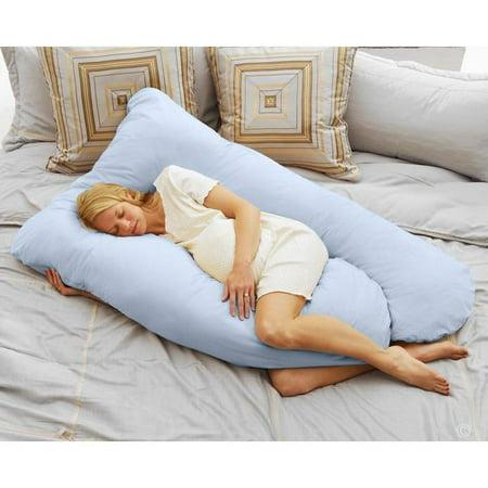 Cozy Comfort Pregnancy Pillow - Sky Blue