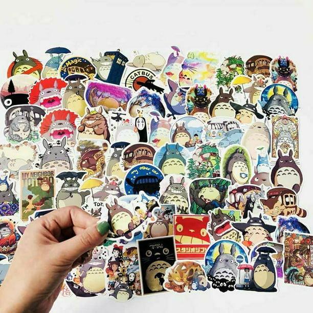 50 Pack Studio Ghibli My Neighbour Totoro Spirited Away No Face Stickers Walmart Com Walmart Com