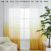 MoDRN Mid-Century Ombre Print Curtain Panel Pair