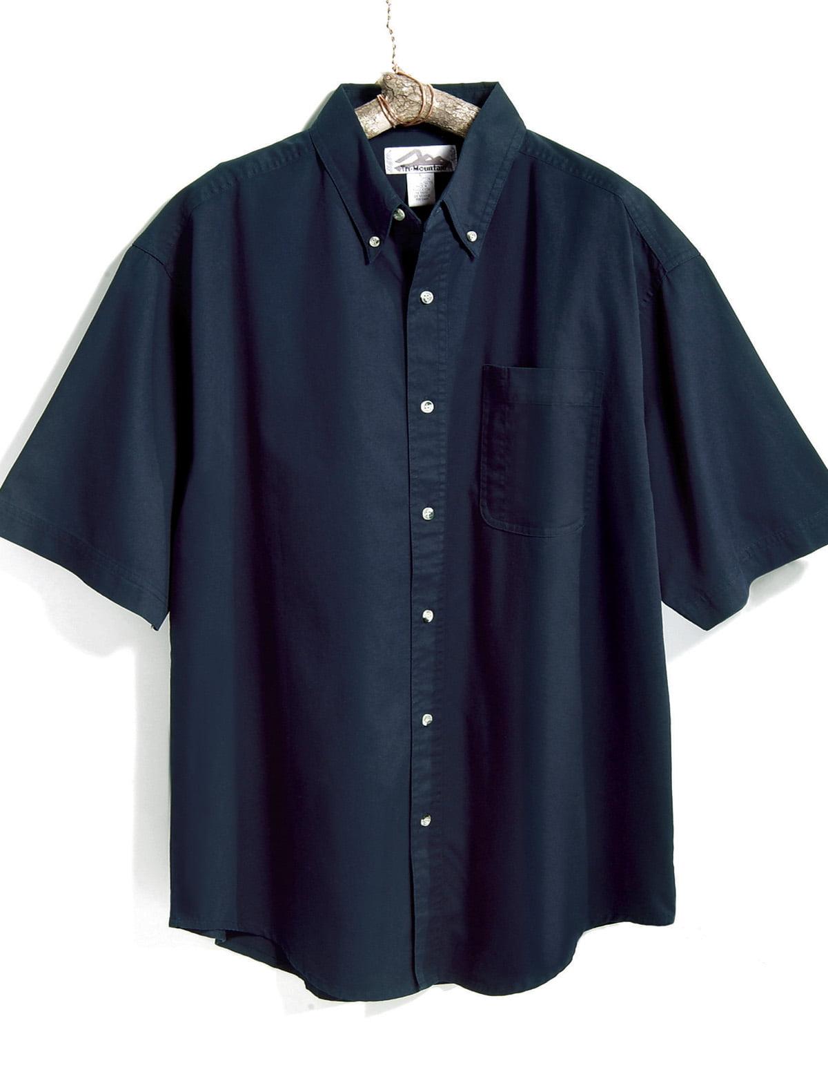 Tri-Mountain Recruit 768 Stain Resistant Short Sleeve Shirt, 2X-Large, Black