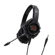 PC Xbox One PS4 Gaming Headset 3.5mm TRRS plug On Ear Headphones with Mic Large Drivers Soft Memory Earmuffs