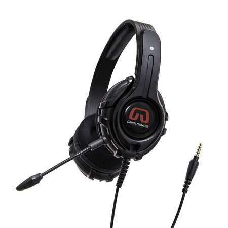 Gaming Headset for Xbox One, PS4, PC, Controller, On Ear Headphones with Mic, Bass ,Soft Memory Earmuffs for Computer Laptop Mac Nintendo Switch (Mic Switch)