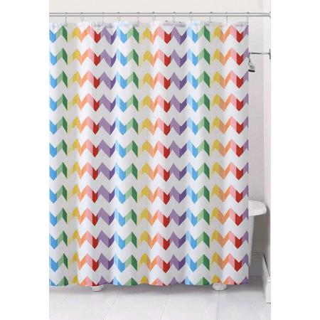 VCNY Home Pride Rainbow Chevron Fabric Shower Curtain (Pride Rainbow)