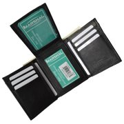 Men's premium genuine leather credit card ID trifold wallet P1755