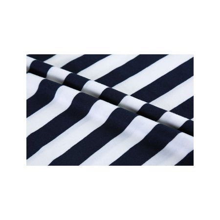 Men Casual Crew Neck Color Block Short Sleeve Striped T Shirt Navy Blue L - image 6 of 7