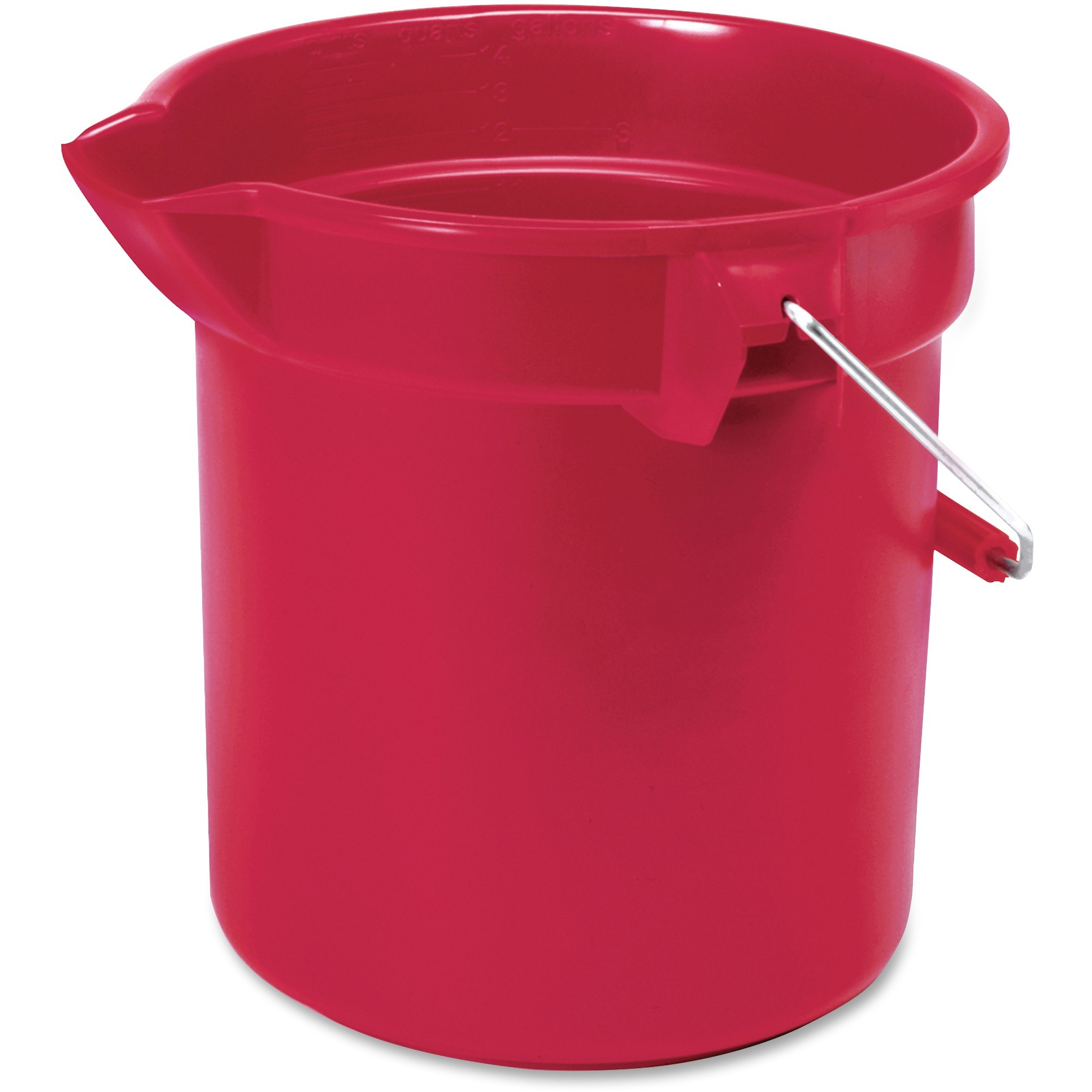 Rubbermaid Commercial, RCP296300RD, Brute 10-quart Utility Bucket, 1 Each, Red,Nickel,Chrome