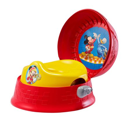 Disney 3-in-1 Potty System, Mickey Mouse, 3-in-1: system on floor, seat can be used on household toilet, stepstool By The First Years