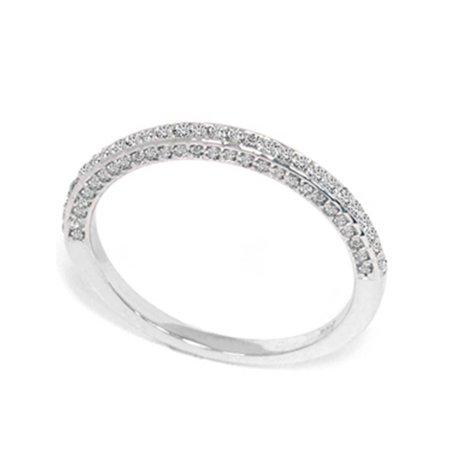 1/2ct Pave Round Diamond Wedding Ring 14K White Gold - image 1 of 2