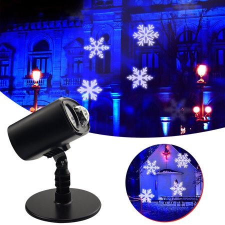 ELEOPTION Laser Snowflake Projector LED Stage Lights Waterproof Christmas Lamp For Halloween Christmas Decoration