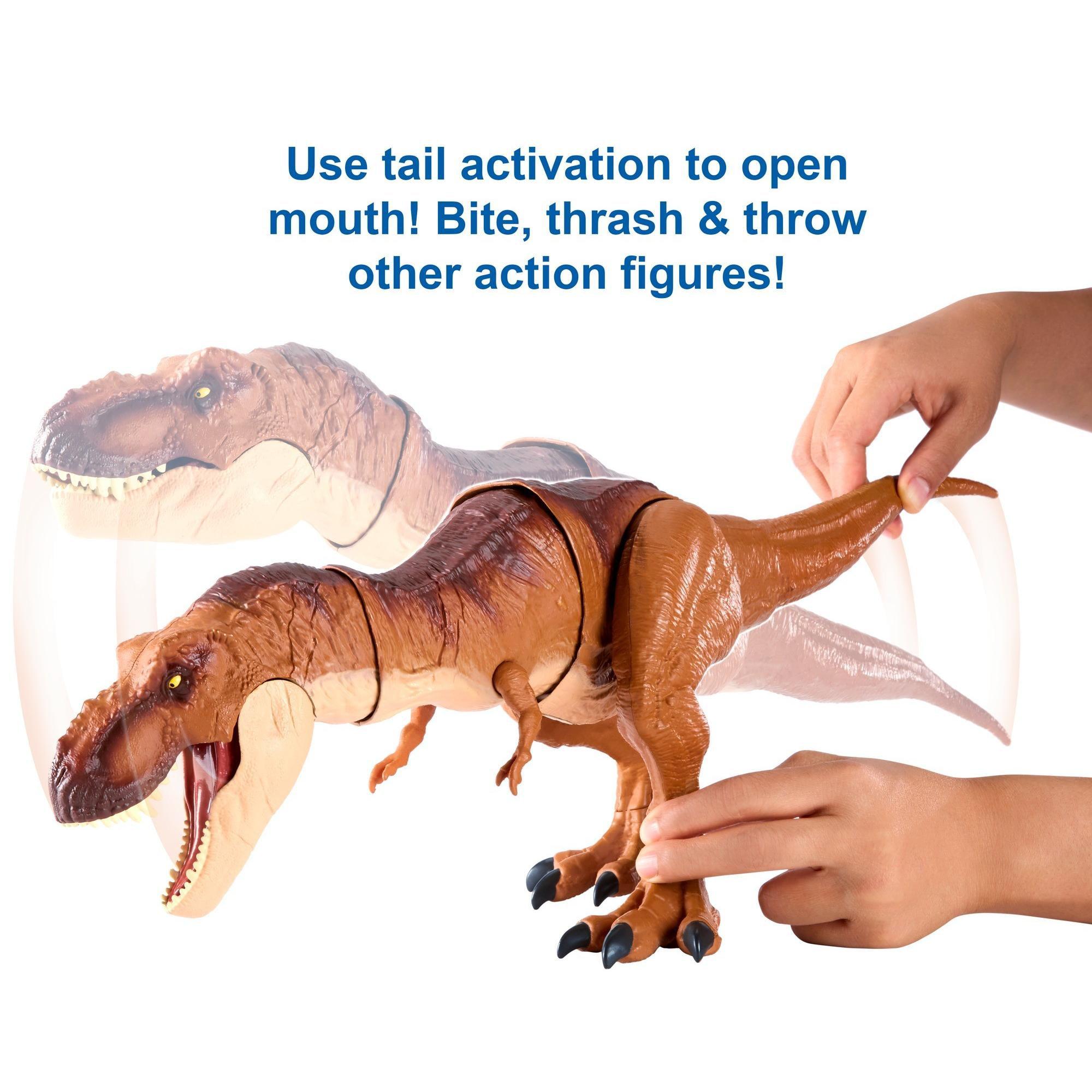 Dinosaur Toys For Kids Tyrannosaurus Rex Figure Jurassic World Thrash /'n Throw