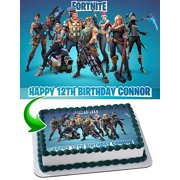 Fortnite Edible Image Cake Topper Personalized Icing Sugar Paper A4 Sheet Frosting Photo 1