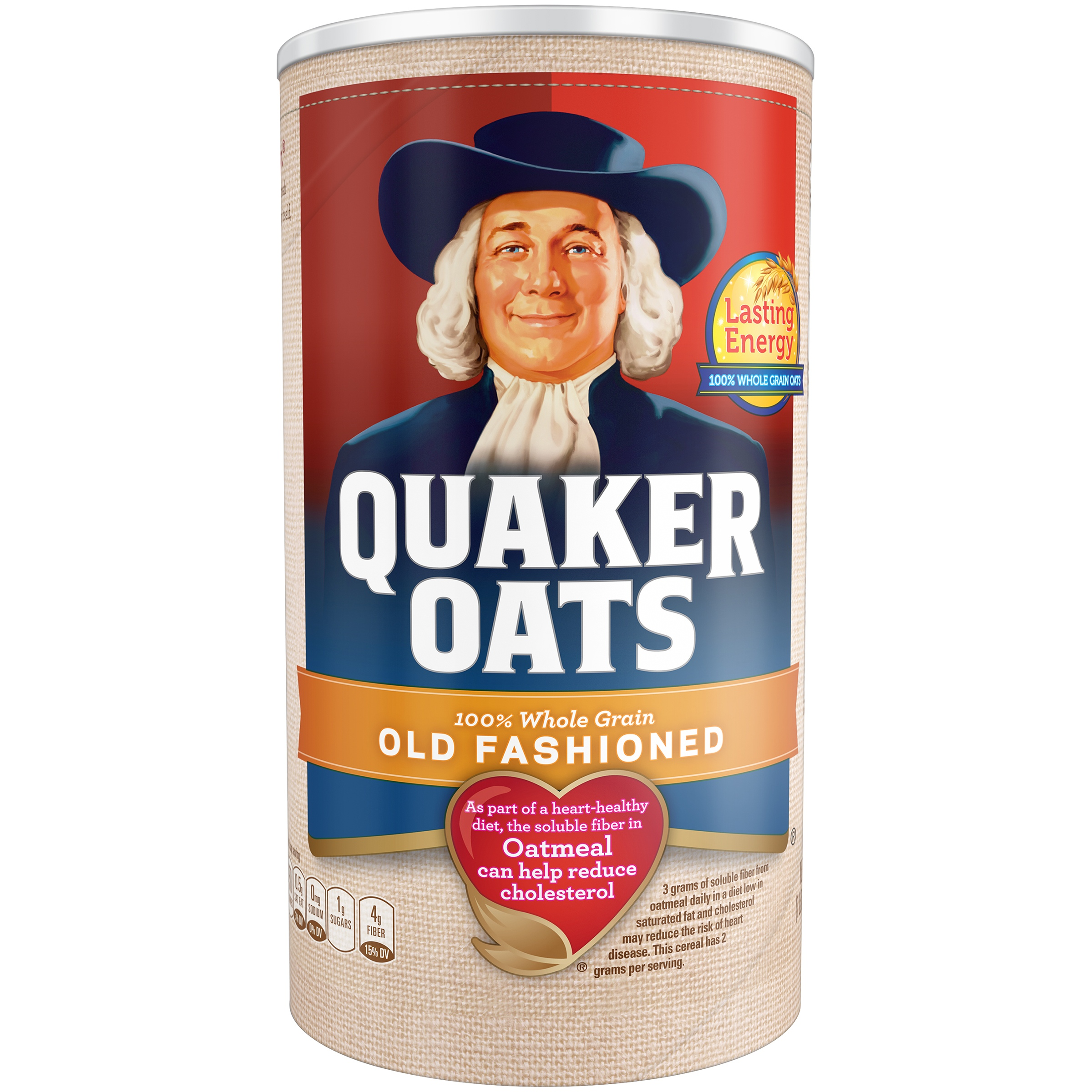 Quaker Oats, Old Fashioned Oatmeal, 18 oz Canister