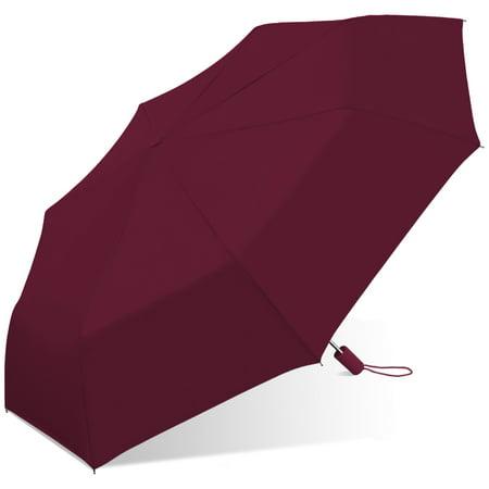 42 Inch Mini Folding Umbrella - Chaby Umbrella Lady Auto Fold Over Sized Solid Color, 42 Inch - 1 Ea