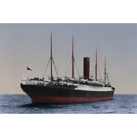 Cunard White Star Line (Cunard LineS Passenger Ship Carpathia Carrying Rescued Titanic Passengers And TitanicS Lifeboats The Lifeboats Were Dropped Off At The White Star Line Pier Before Passengers Disembarked At The Cunard)