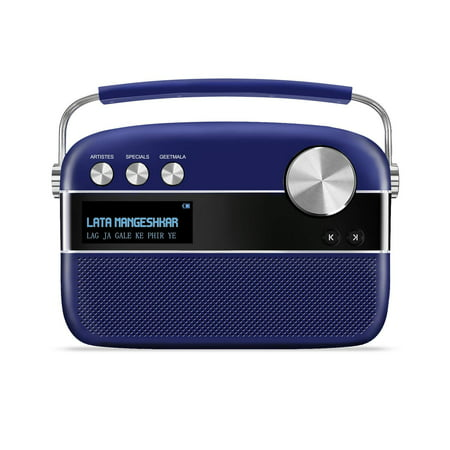 Saregama Carvaan Premium with App Portable Digital Music Player (Royal Blue) 5000 Hindi (Best Youtube Music App)