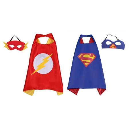 Flash & Superman Costumes - 2 Capes, 2 Masks with Gift Box by Superheroes](Flash Dancer Costume)