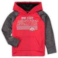 6086388fd Product Image Youth Heathered Scarlet Ohio State Buckeyes Streak Pullover  Hoodie
