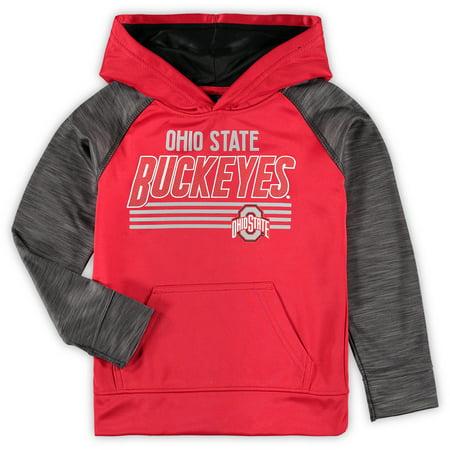 Youth Heathered Scarlet Ohio State Buckeyes Streak Pullover - Ohio State Halloween