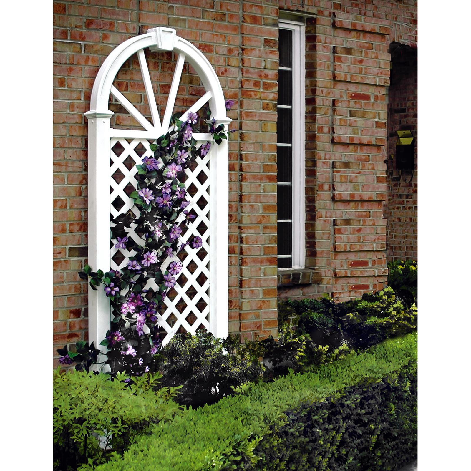 Nantucket 7-ft. Vinyl Arch Trellis by New England Arbors