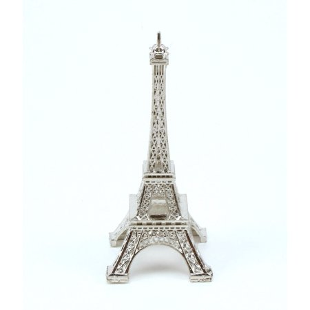 3 inch Silver Mini Eiffel Tower Bulk Figurine Statue Replica Souvenir Statue 12 Pieces ()