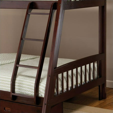 Hillsdale Furniture Rockdale Twin over Full Bunk Bed with Storage Drawer, Espresso