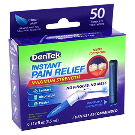 DenTek Adult Instant Pain Relief Kit Maximum Stregnth, 50 Each - Tooth Paint