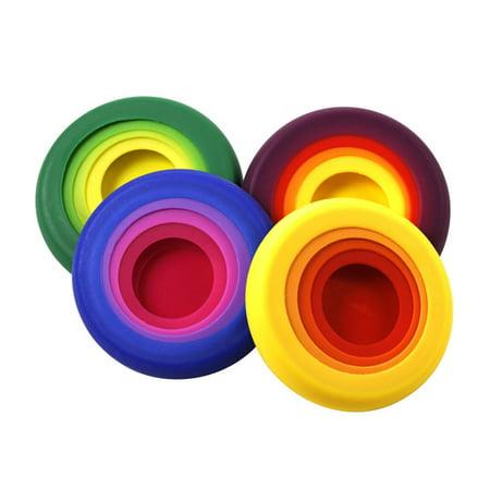 Colored Jars - Farberware Pro Set of 4 Multi Colored Food Huggers