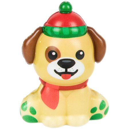 Christmas Winter North Pole Golden Retriever Squishie Toy Party Favor