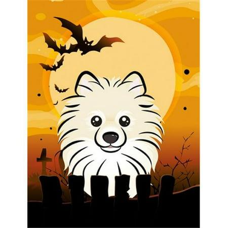 Halloween Pomeranian Flag Garden Size - Halloween Pomeranian