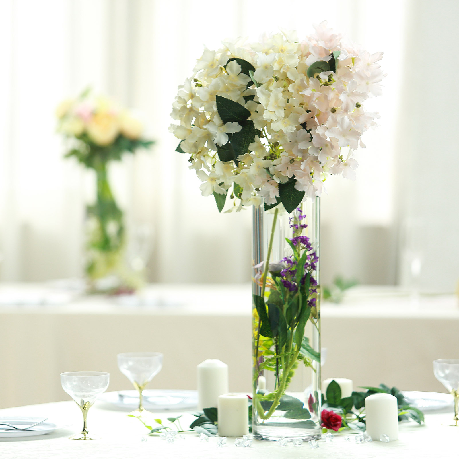 Events Or Home Decor Flowers Floral Supply Online 5 Tall X 5 Wide Cylinder Glass Vase For Weddings Office Arrangements Decorating Vases